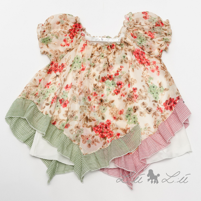 L:ú L:ú by Grant gipsy chic pink floral print silk blouse