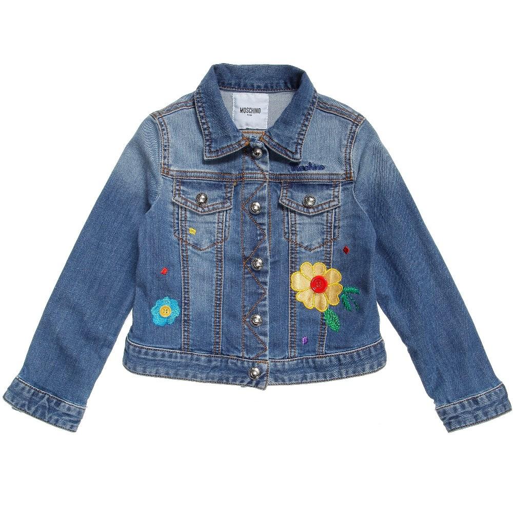 Moschino denim jacket with flowers