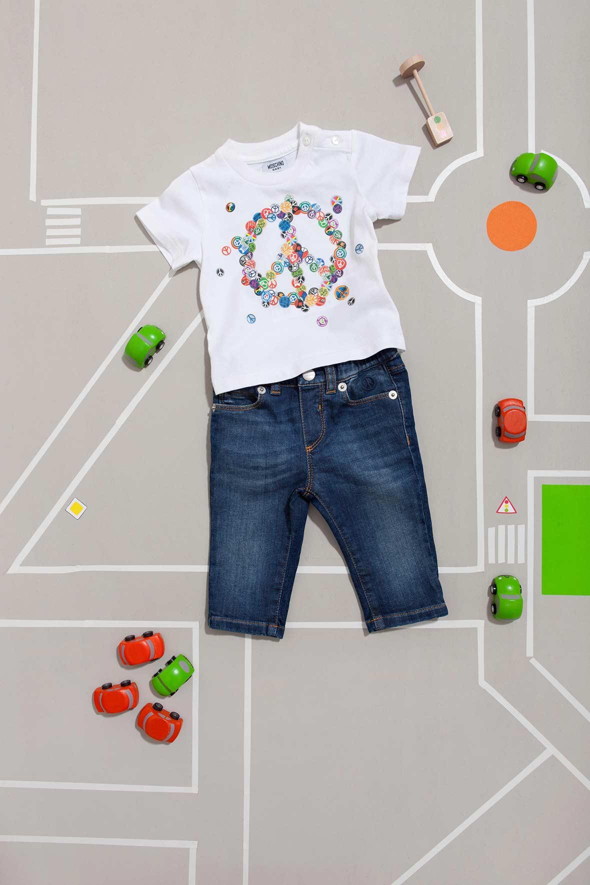 Moschino denim shorts for baby