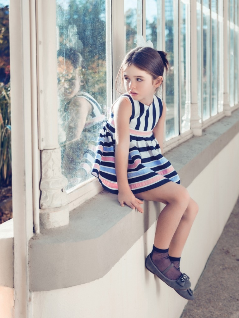 Aletta Spring Summer 2014 dress with horizontal and vertical stripes