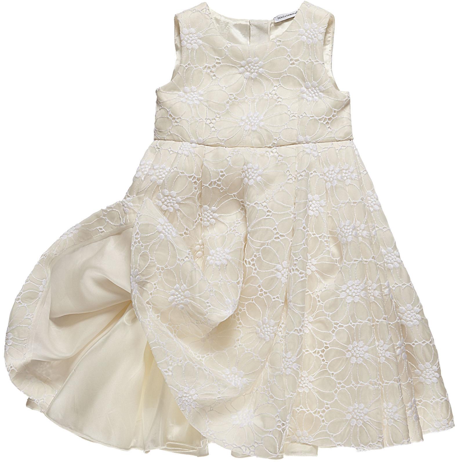 Dolce and Gabbana Spring Summer 2014 white silk dress