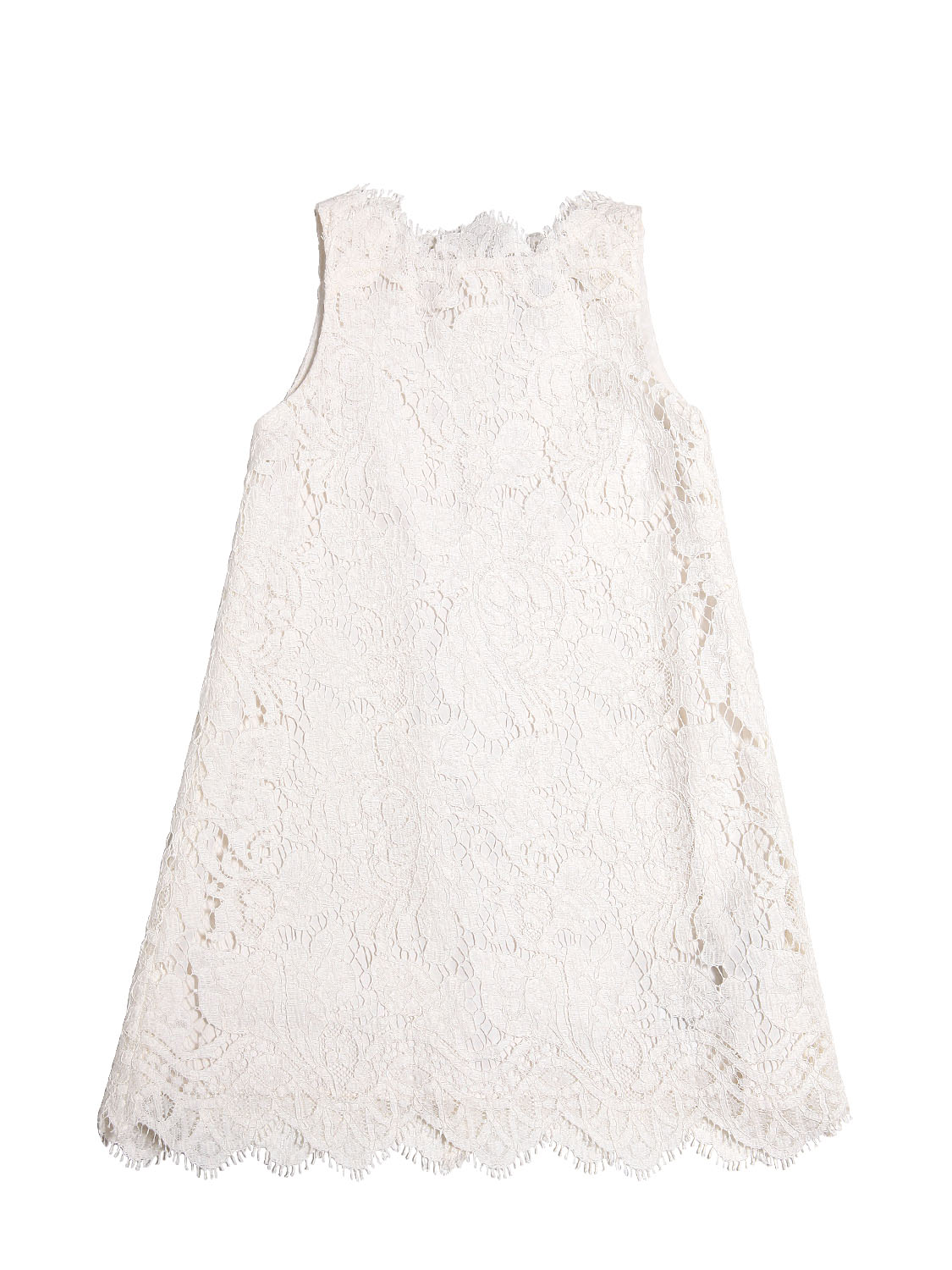 Dolce and Gabbana Spring Summer 2014 white dress with guipure lace