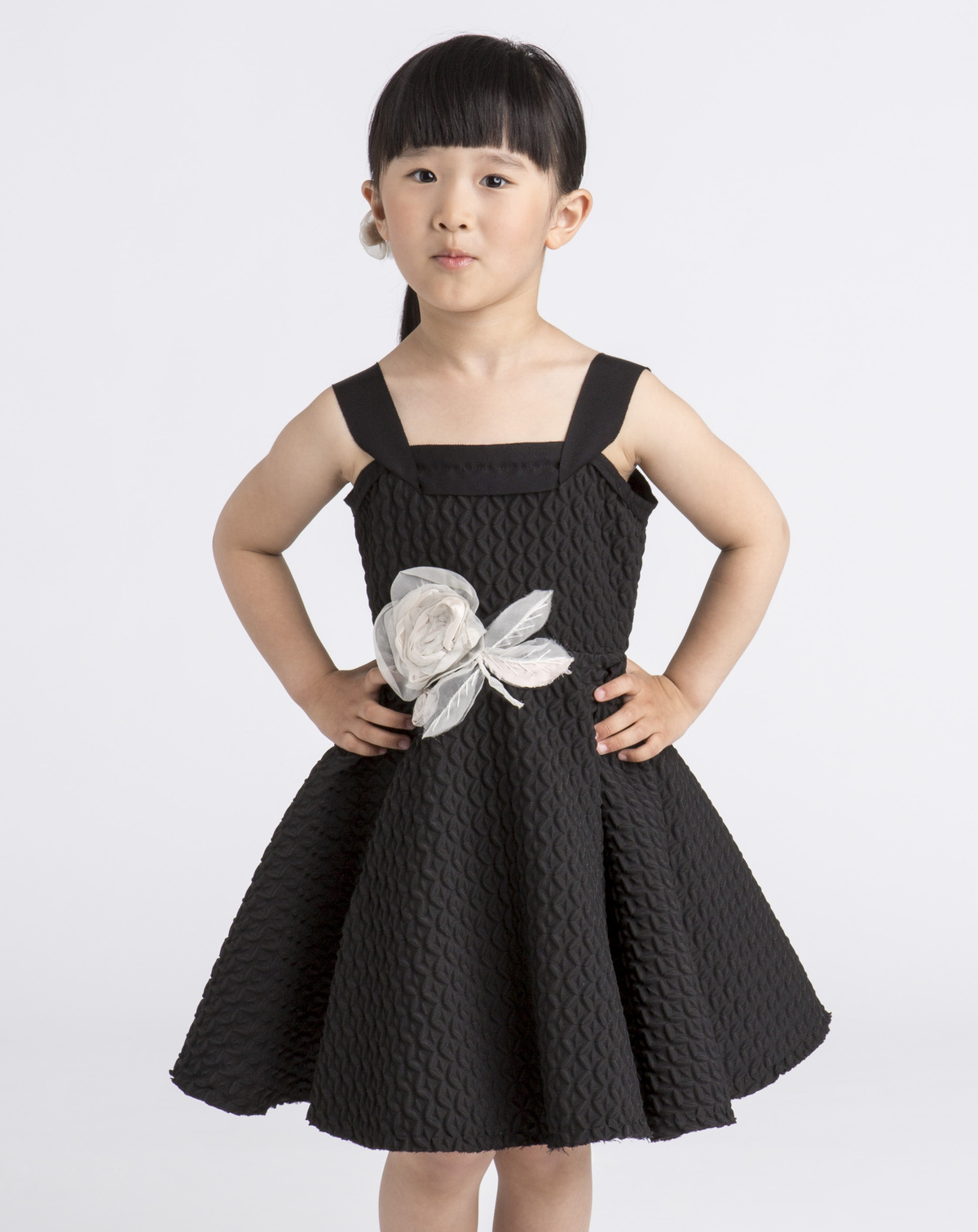Lanvin Petite Spring Summer 2014 black embossed dress
