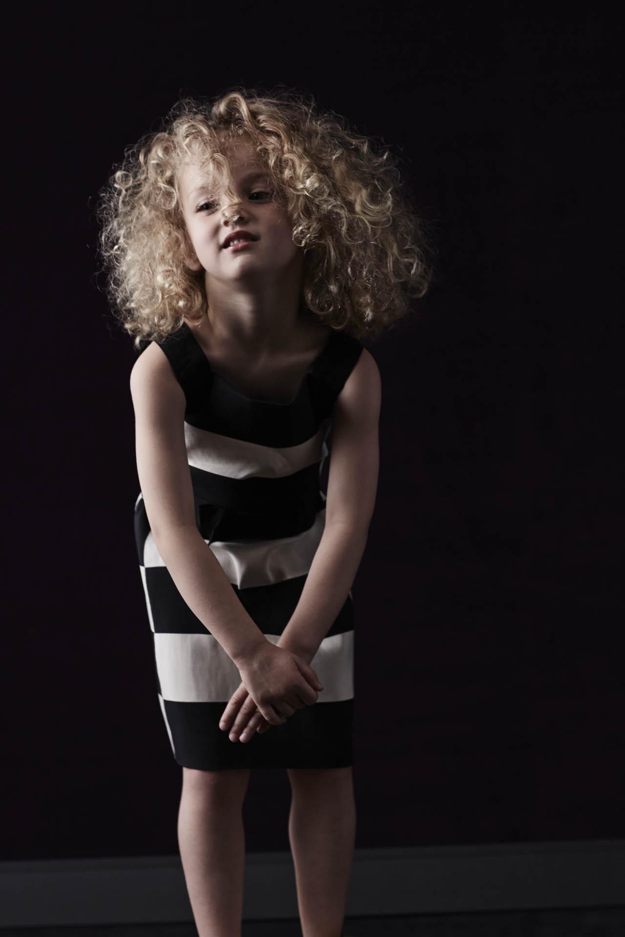 Lanvin Petite Spring Summer 2014 black and white striped dress
