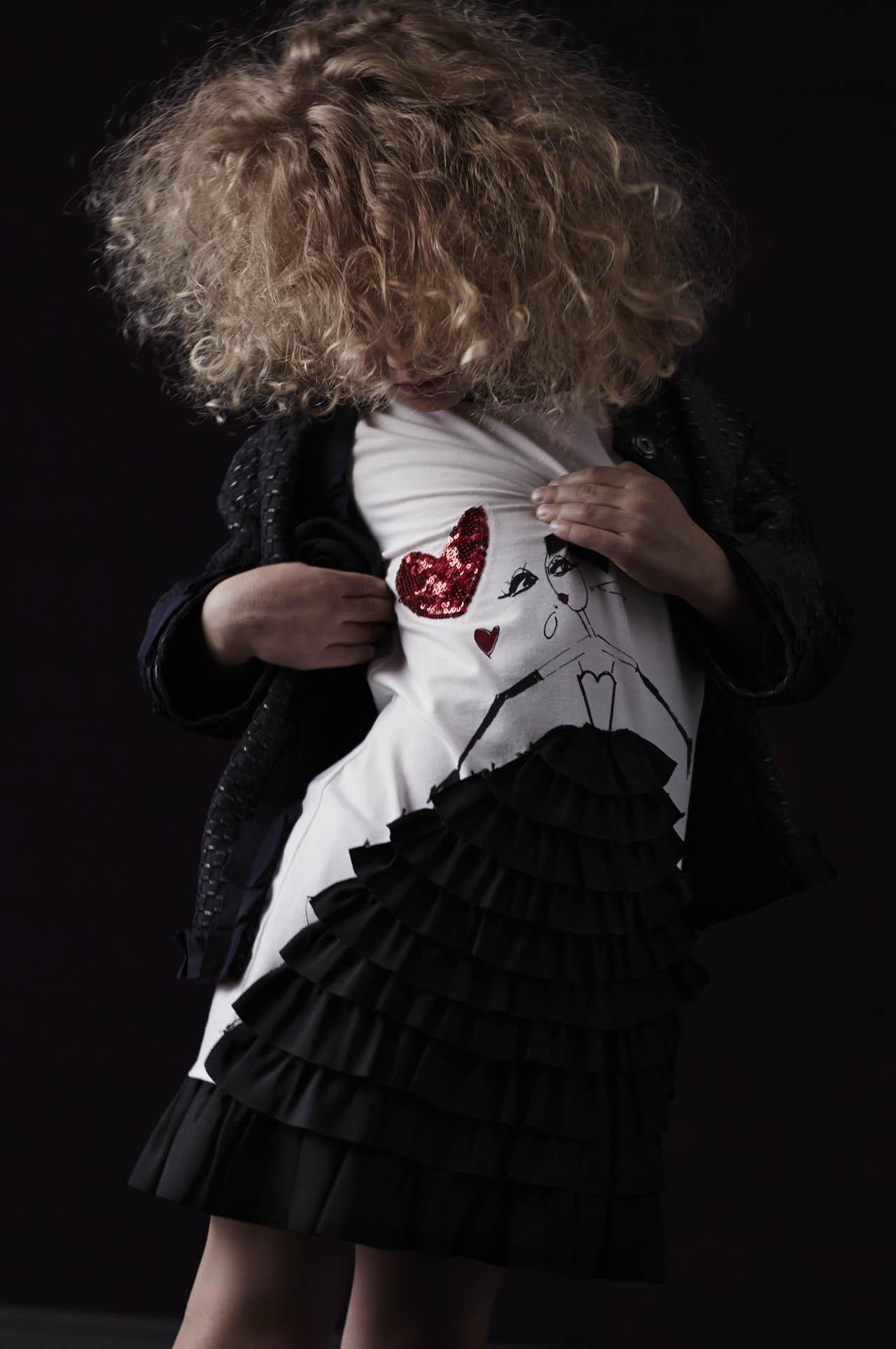 Lanvin Petite Spring Summer 2014 black cardigan and white dress