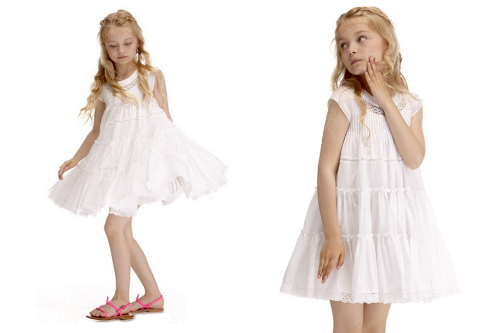 Lili Gaufrette spring summer 2014 white flare shaped dress