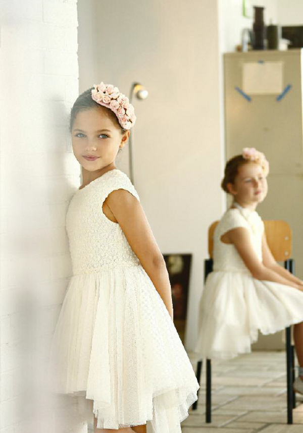Quis Quis Spring Summer 2014 white lace and tulle dress