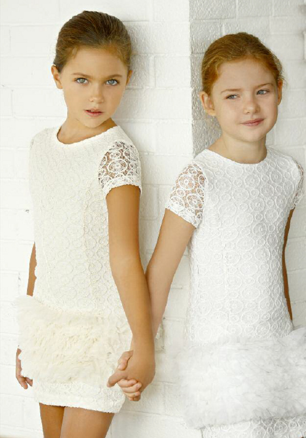 Quis Quis Spring Summer 2014 white soft cotton and tulle dress