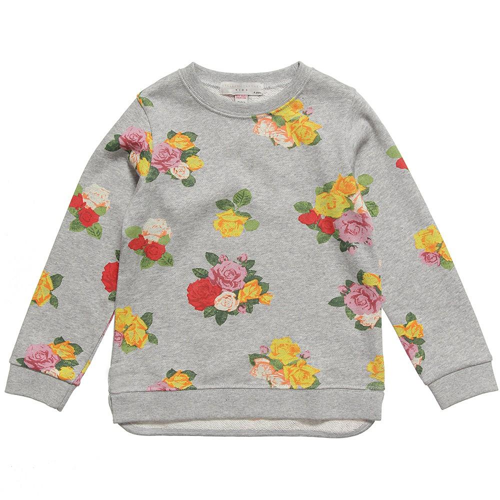Stella McCartney Kids Spring Summer 2014 grey sweater with rose prints