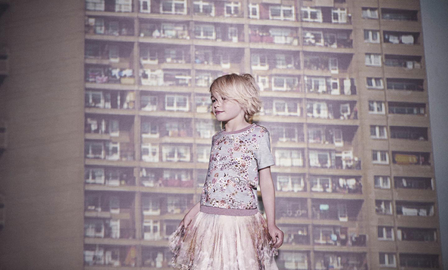 Paul Smith Junior Spring Summer 2014, sweatshirt with tulle skirt