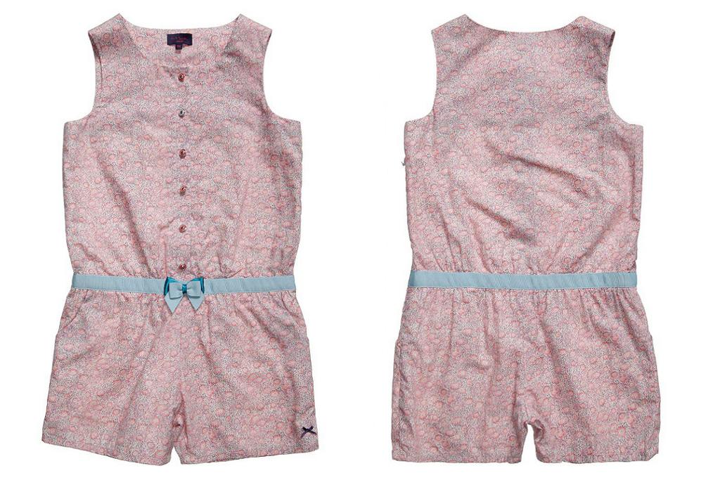 Paul Smith Junior Spring Summer 2014, flower printed pink playsuit