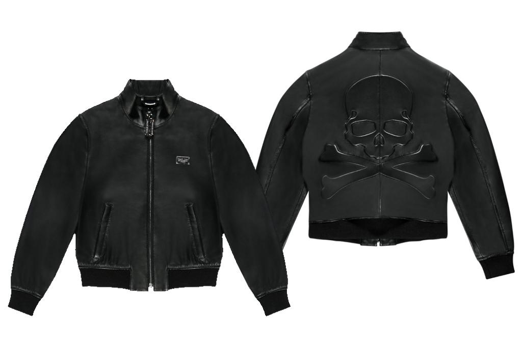 Philipp Plein Petite Spring Summer 2014, black leather jacket