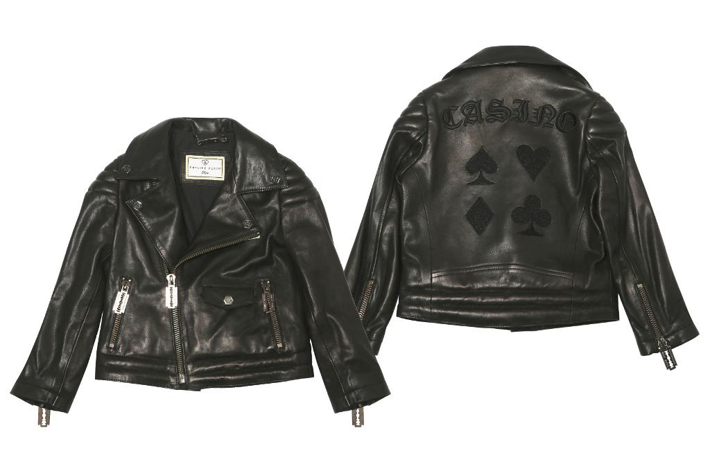 Philipp Plein Petite Spring Summer 2014, boy black leather jacket