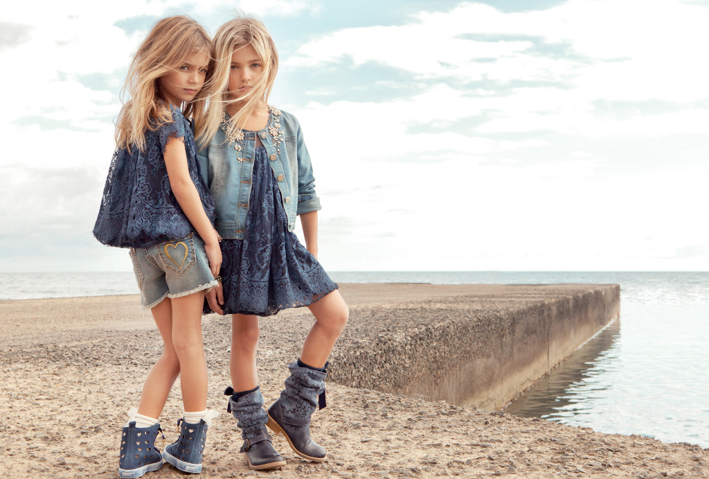 Twin-set Girl Spring Summer 2014, lace dress and blouse