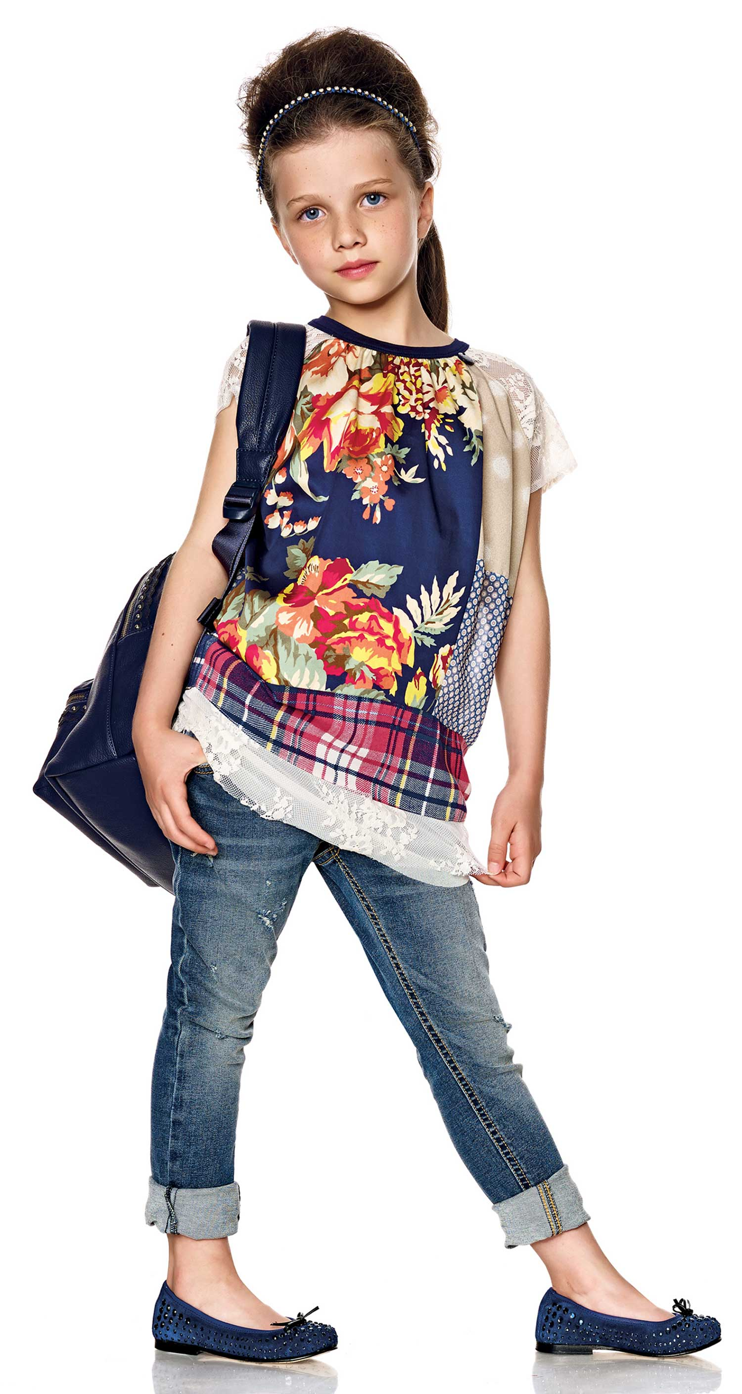 Twin-set Girl Spring Summer 2014, floral print blouse
