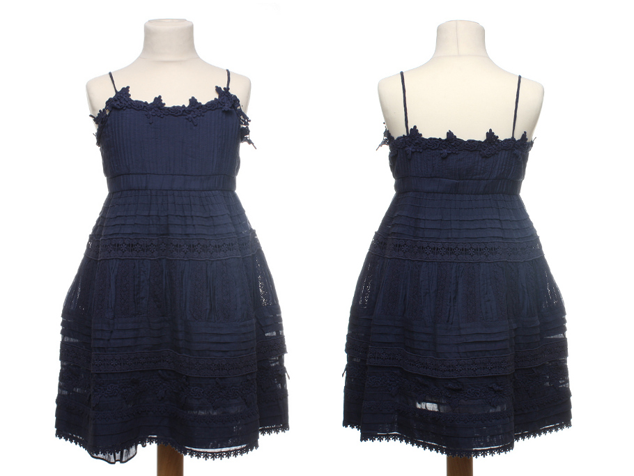 Twin-set Girl Spring Summer 2014, blue cotton dress