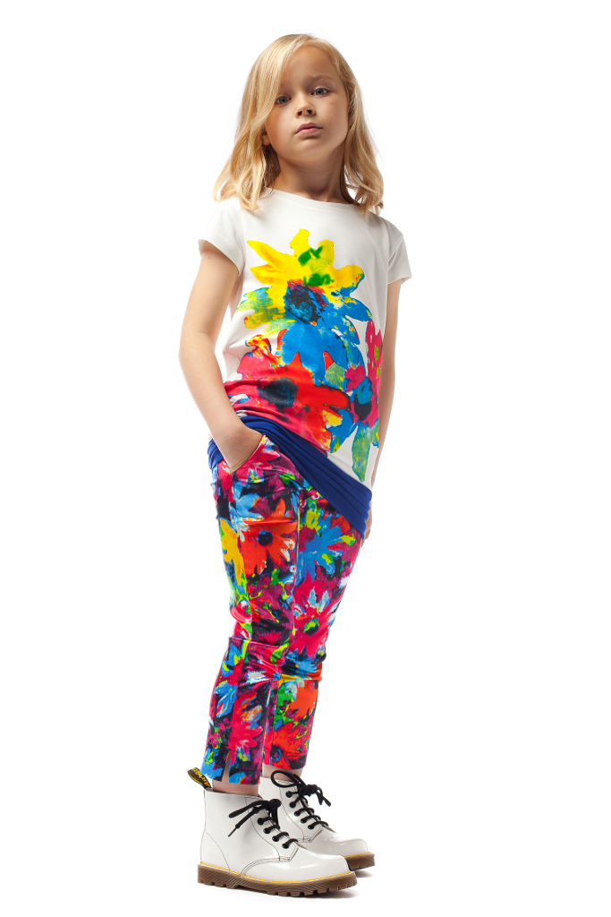 Junior Gaultier Spring 2015, the strong floral graphic.