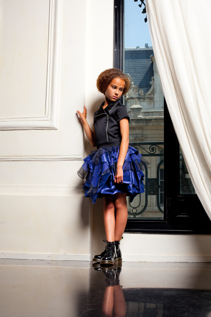 Junior Gaultier Spring 2015, an amazing royal blue look!