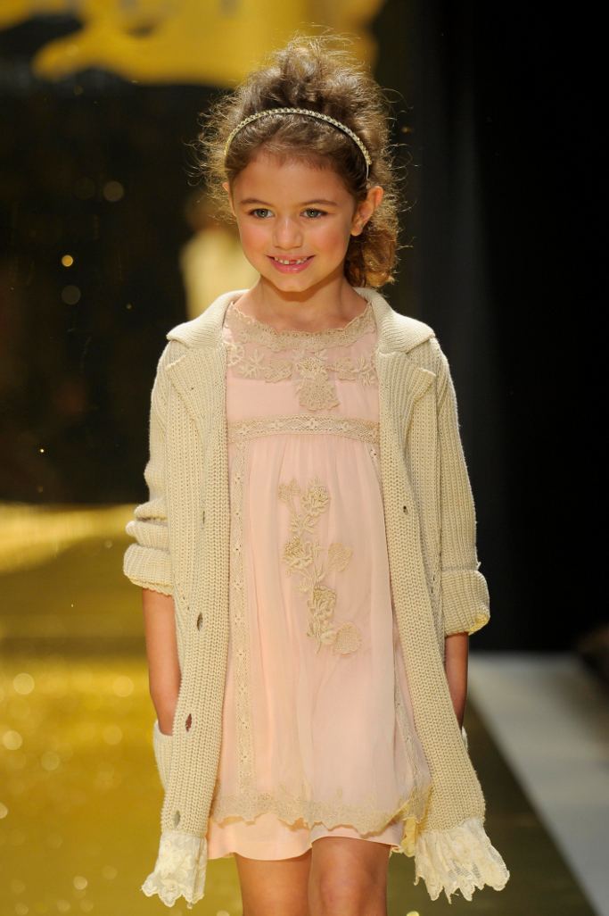 Pitti Bimbo, spring summer 2014, Twin Set Girl pink dress