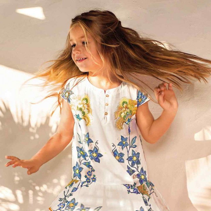 Roberto Cavalli Junior spring 2014 inspired by flowers