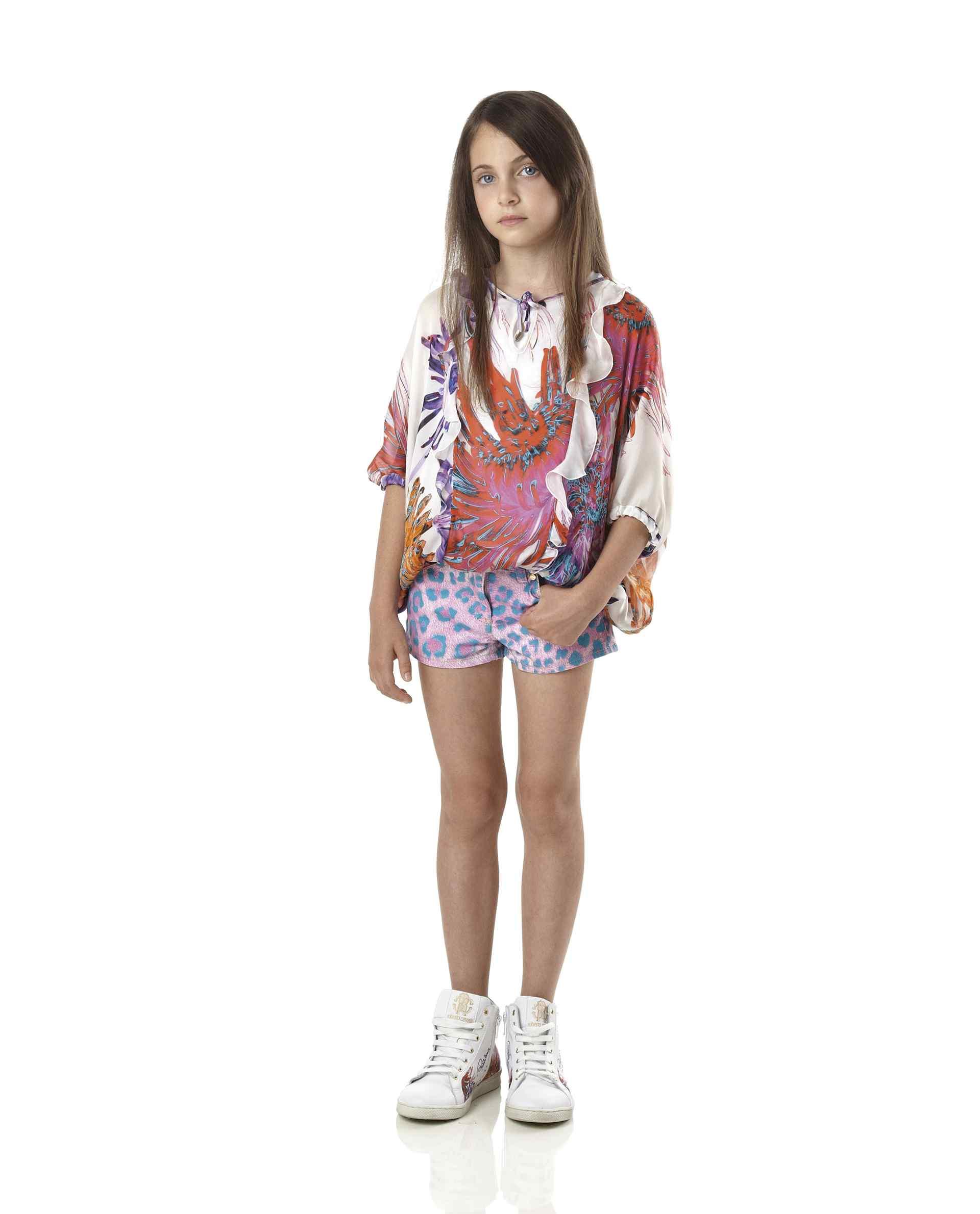Roberto Cavalli Junior Spring Summer 2014, Tropical Flowers blouse