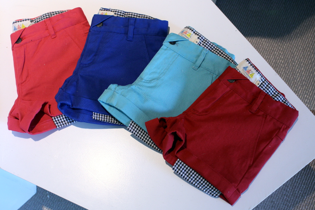 Little Eleven Paris spring 2015, solid colour shorts