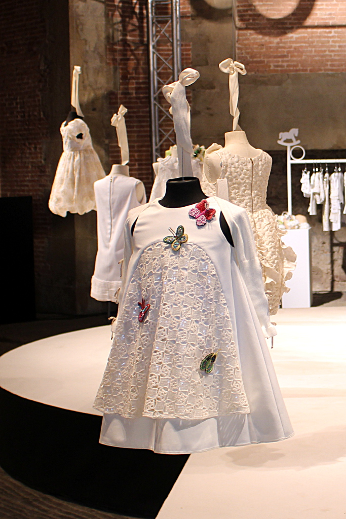 I Pinco Pallino spring 2015, white dress with butterflies