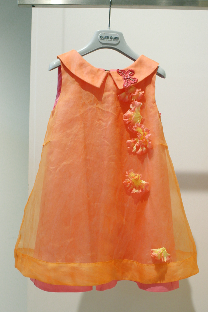 "Quis Quis Spring Summer 2015. Orange dress  from ""Sole mio"""