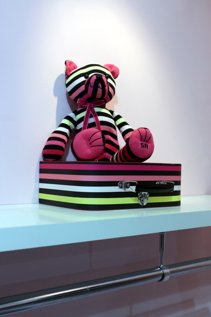 Rykiel Enfant Spring 2015, a stripy teddy bear