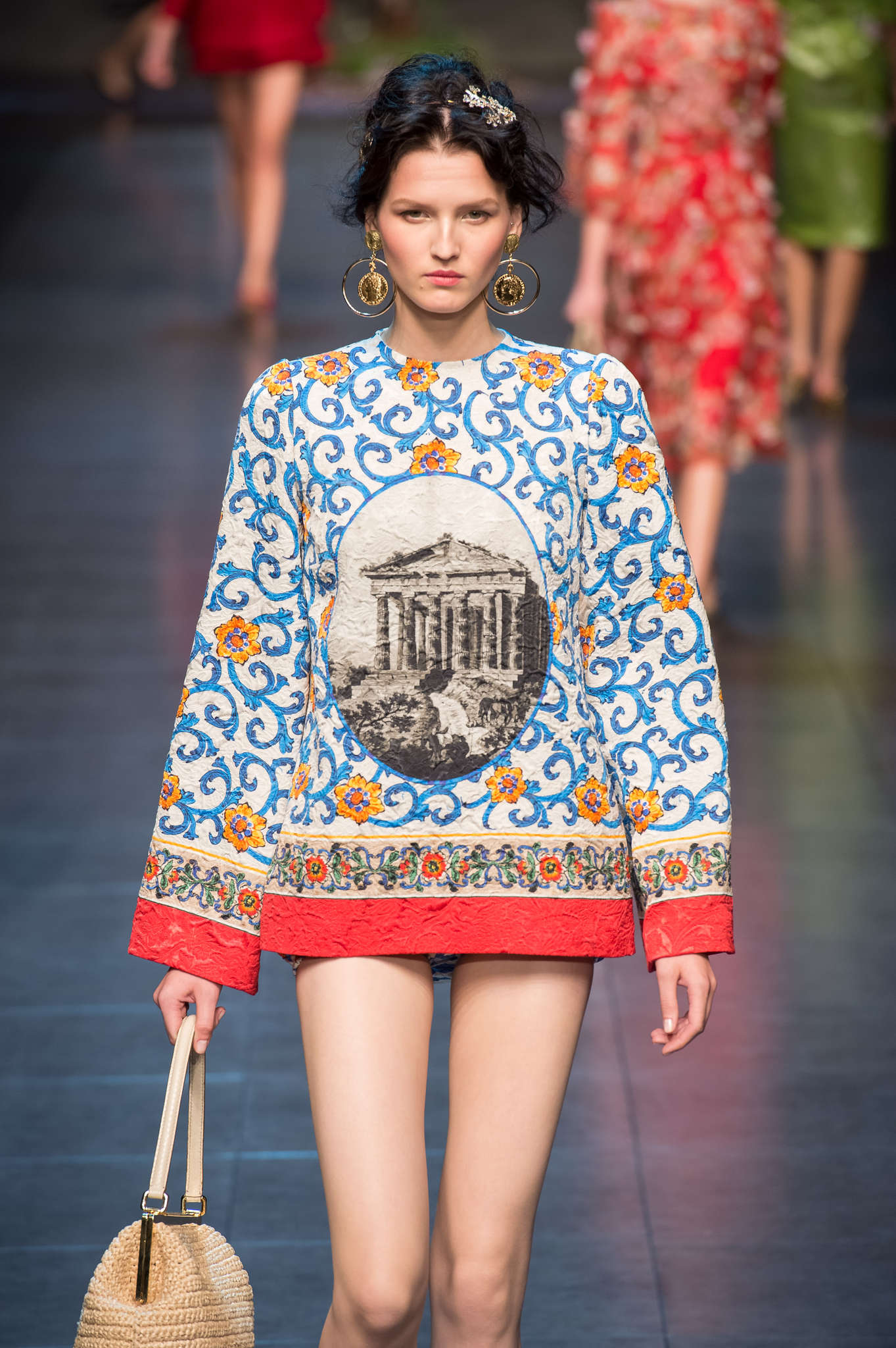 Dolce and Gabbana Spring 2014, short dress of the adult line