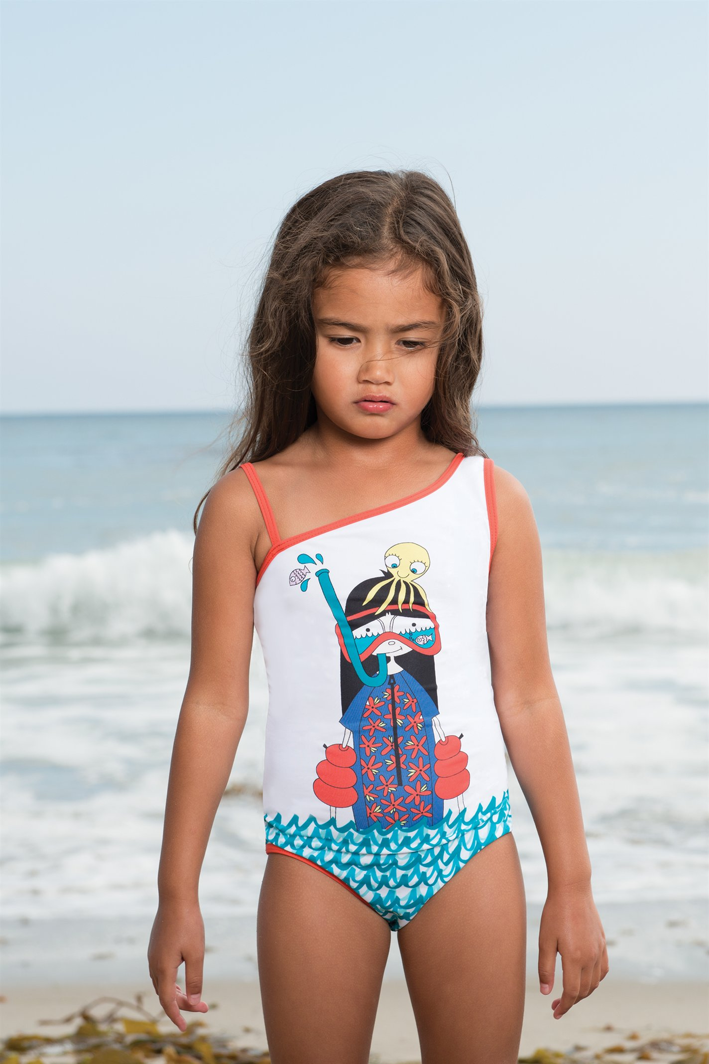 Little Marc Jacobs spring 2014, white one shoulder bathing suit