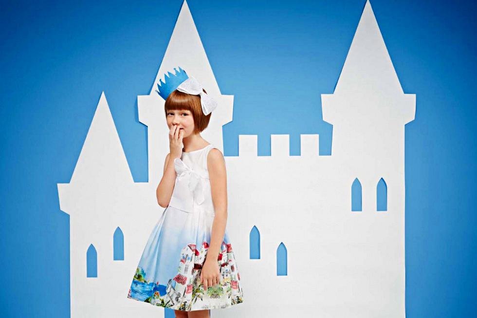 Simonetta spring 2014, dress with Capri print