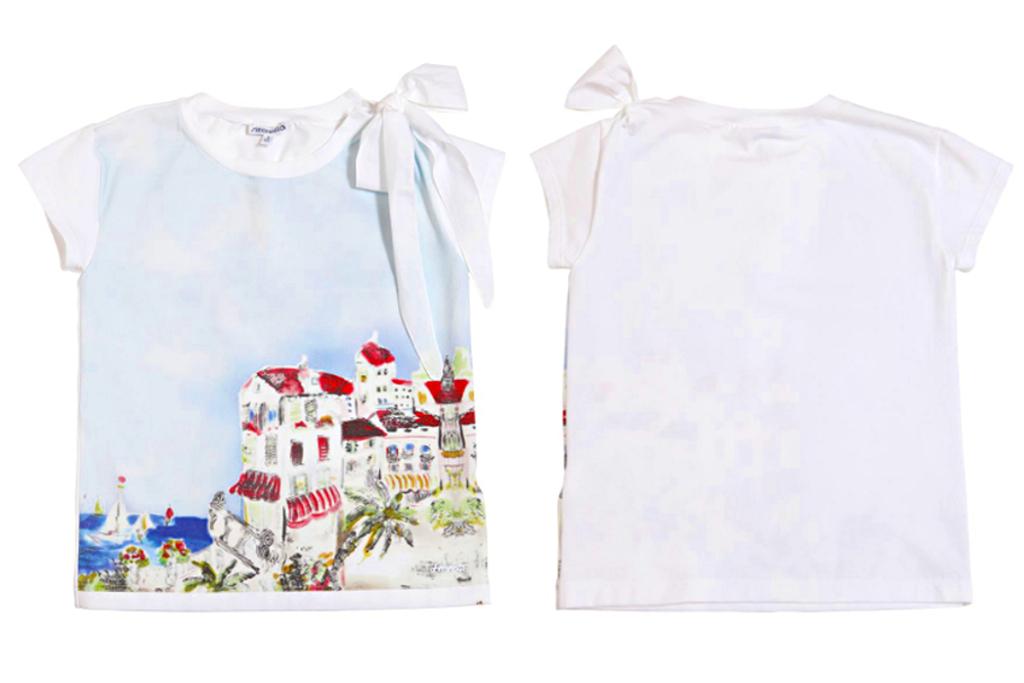 Simonetta spring 2014, Capri landscape print blouse.