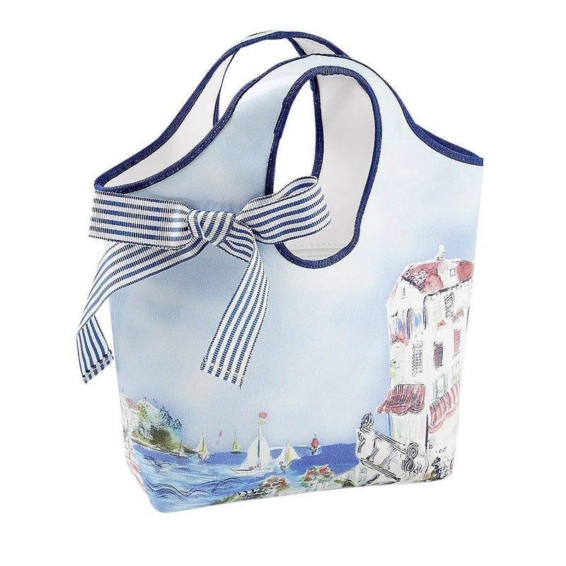 Simonetta spring 2014, Capri print vinyl bag