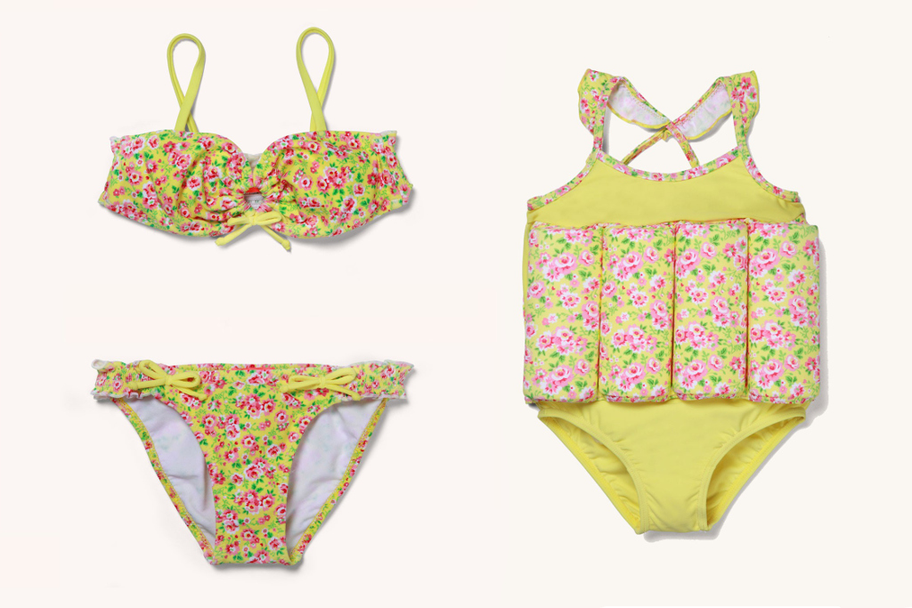 Sunuva spring 2014, Ditsy collection bikini and floatsuit