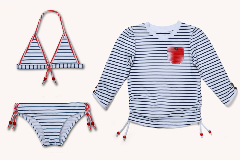 Sunuva spring 2014, the Stripes collection swimsuit and rash vest