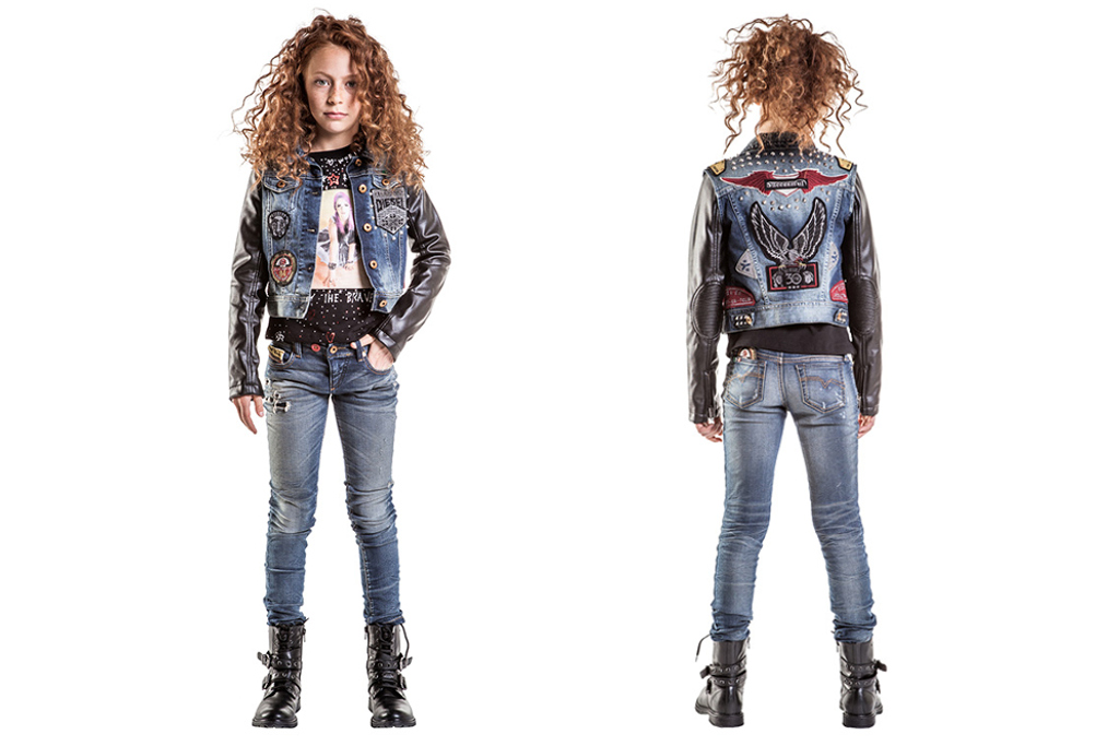 Diesel kids 30th anniversary capsule collection, focus on girl