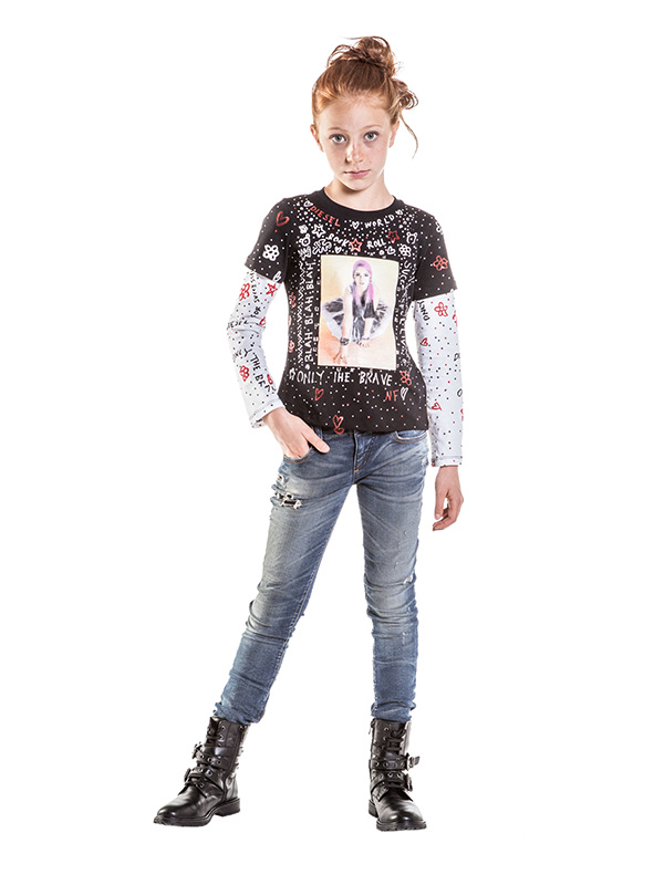 Diesel Kids 30th anniversary capsule collection, look for girls