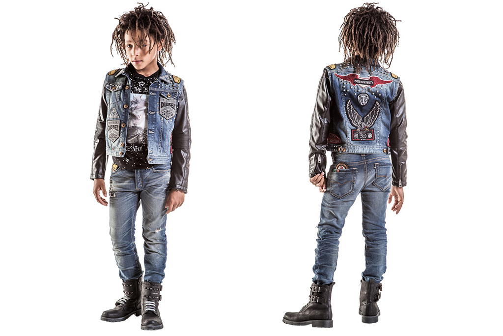 Diesel Kids 30th anniversary capsule collection, focus on boys