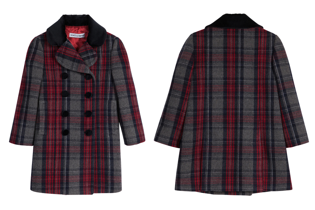 Dolce & Gabbana fall winter 2014/2015, tartan wool coat