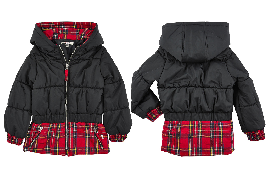 Junior Gaultier fall winter 2014/2015 black padded tartan jacket