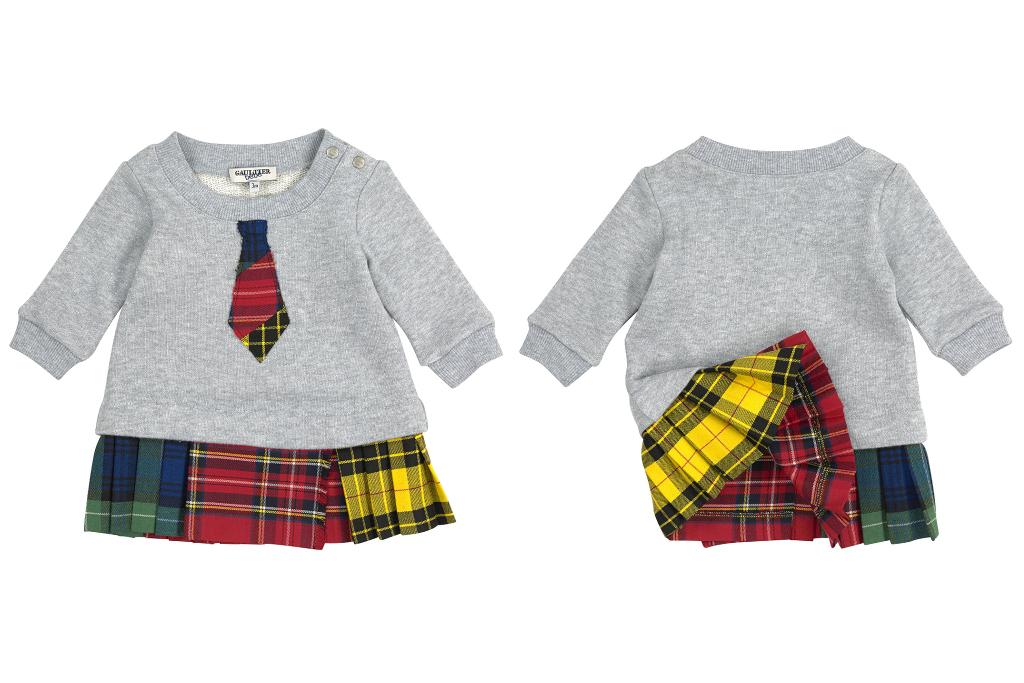 Junior Gaultier fall winter 2014/2015 tartan sweatshirt dress