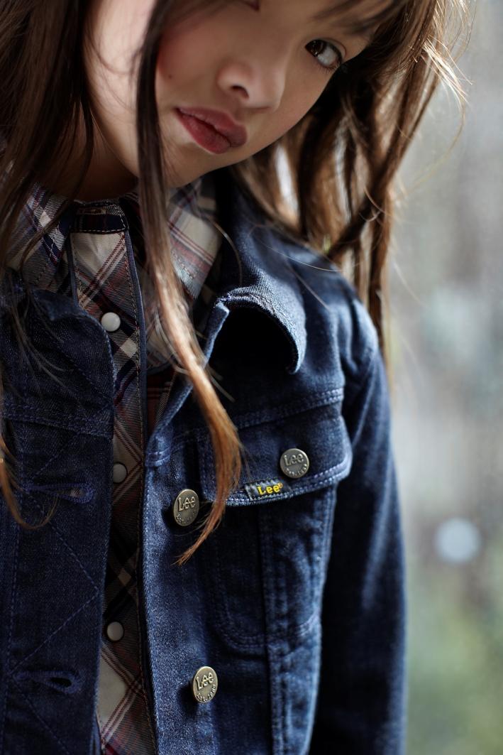 Lee kidswear winter 2014, girl blue denim shirt