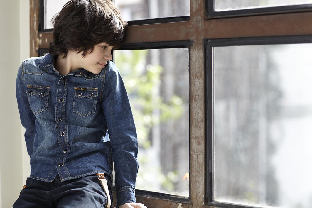 Lee kidswear winter 2014, denim total look for boys.