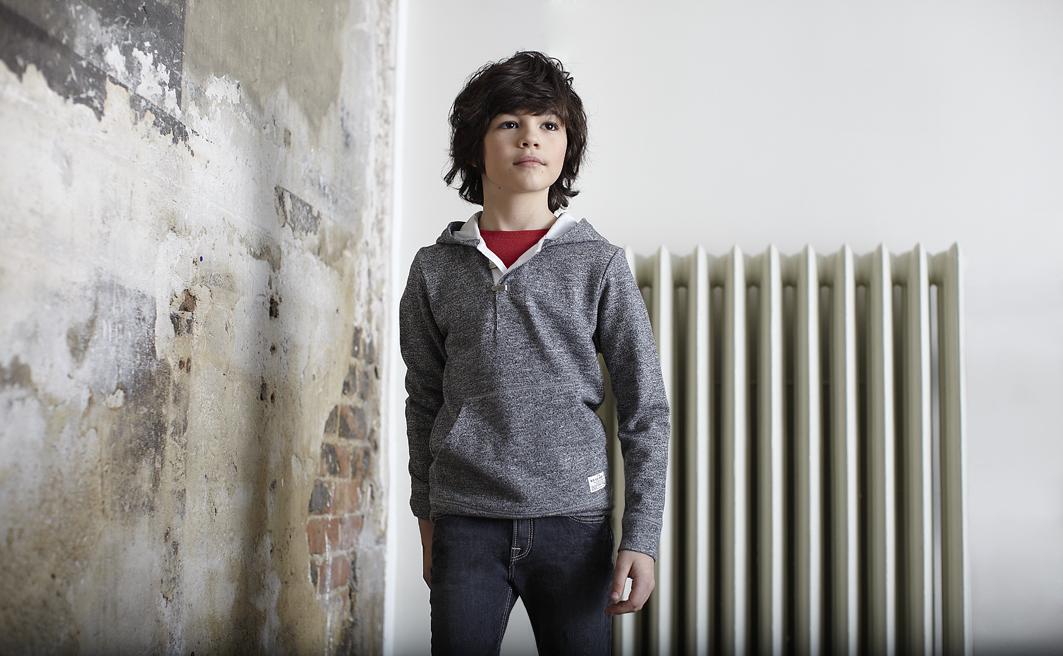 Lee kidswear winter 2014, boy grey hoodie