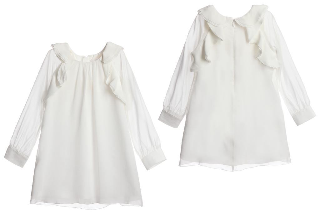 Chloé children's wear winter 2014 white dress