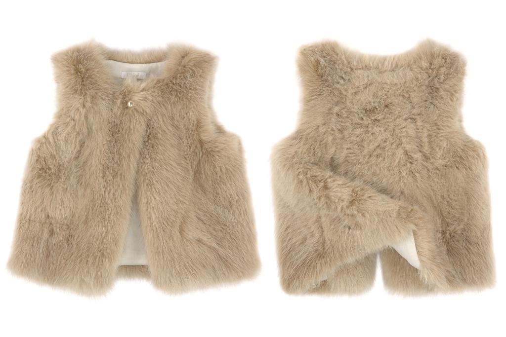 Chloé children's wear winter 2014, faux waistcoat