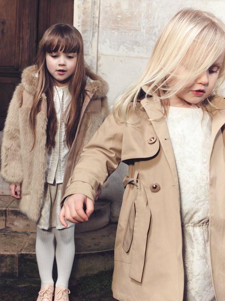 Chloé children's wear winter 2014 beige and ivory tones