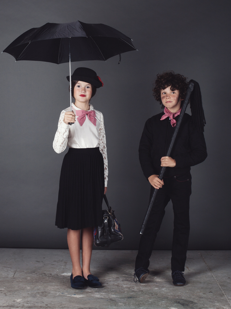 Halloween kids costumes 2014, Mary Poppins and Bert