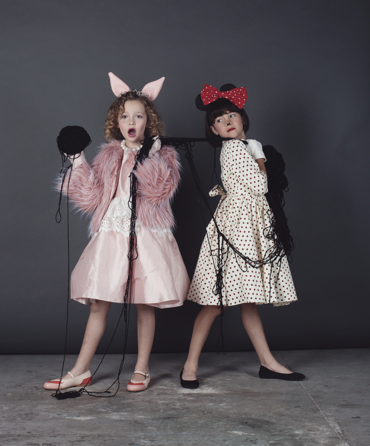 Halloween 2014 Miss Piggy and Minnie mouse kids costumes